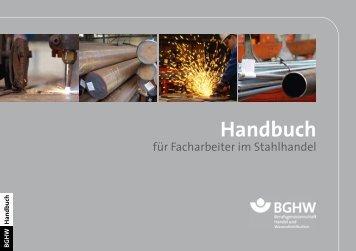 Handbuch für Facharbeiter im Stahlhandel - Berufsgenossenschaft ...