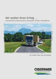 Imagebroschüre - OBERMAIR Transporte