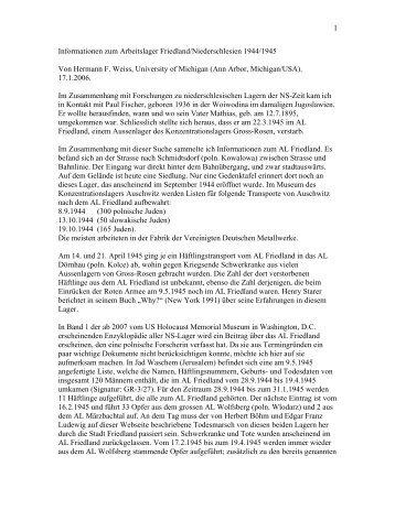 1 Informationen zum Arbeitslager Friedland ... - Böhm-Chronik
