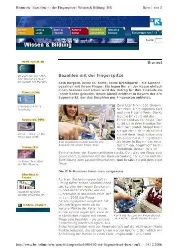 br-online.de - Bezahlen mit der Fingerspitze - it-werke