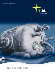 Flux-cored Welding Wires for stainless steels - Böhler-Welding