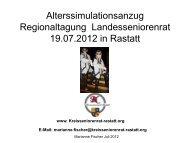 Vortrag Marianne Fischer Alterssimulationsanzug - Der ...