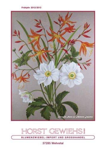 Blumenzwiebel Katalog Frühjahr 2012, Teil 1 A-C