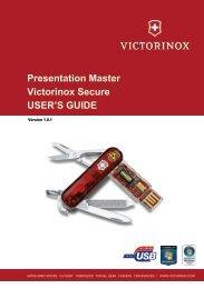 Presentation Master Victorinox Secure USER'S GUIDE