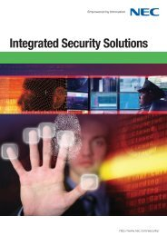 Integrated Security Solutions - Nec