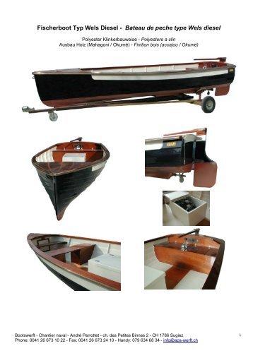 Ruderboot Typ Aal - Bootswerft - chantier naval