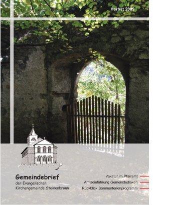 Erntedank 2009 - evangelische Kirchengemeinde Steinenbronn