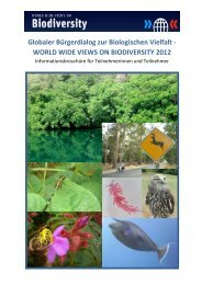 Infobroschüre zum Download - World Wide Views on Biodiversity ...