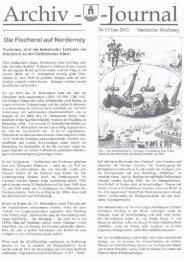 Archiv-Jounal Nr. 15/Juni 2012 - Chronik der Insel Norderney