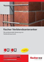 fischer Verblendsanieranker - SBB Baumaschinen & Baugeräte GmbH