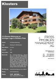 2.5-Zimmer-Wohnung an sonniger Lage in Klosters Platz