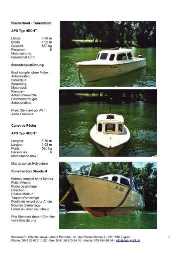Fischerboot - Tourenboot - Bootswerft - chantier naval