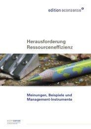 Herausforderung Ressourceneffizienz - Econsense