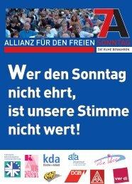 Bamberg - Allianz für den freien Sonntag - Bayern