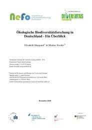 Ökologische Biodiversitätsforschung in Deutschland - Ein ... - VBio