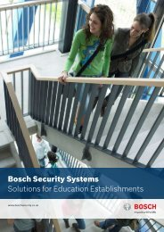 Education Brochure - Bosch Security Systems