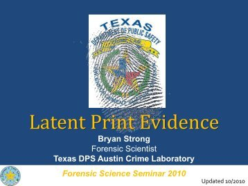 Latent Print Evidence