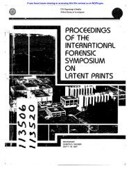 proceedings of the international forensic symposium on latent prints
