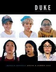 2009 Spring & Summer - Duke University Press