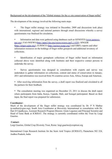 Finger Millet-final pdf - Global Crop Diversity Trust