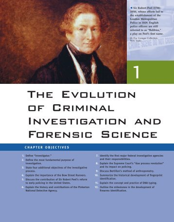 The Evolution of Criminal Investigation and Forensic Science