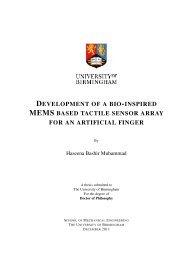 Development of a Bio-inspired MEMS based tactile sensor array for ...