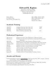 Edward K. Kaplan - Brandeis - Brandeis University