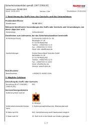 Sicherheitsdatenblatt gemäß 1907/2006/EG