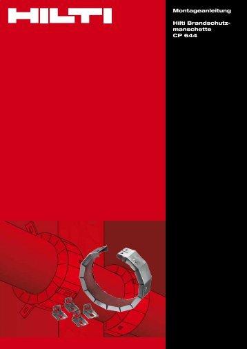 Montageanleitung Hilti Brandschutz- manschette CP 644