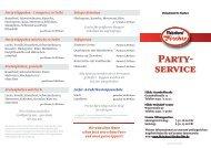 Partyservice - Fleischerei Fischer Bremerhaven
