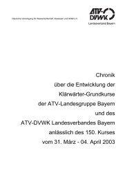 Chronik über die Entwicklung der Klärwärter ... - DWA Bayern