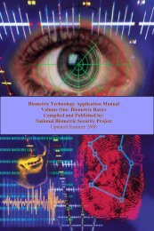 Biometric Technology Application Manual Volume One - Planet ...