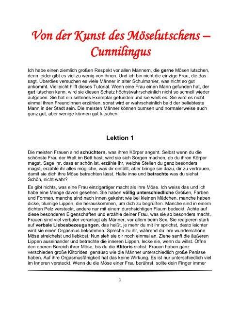 Von der Kunst des Cunnilingus - eBooks und Software SaarPfalz24