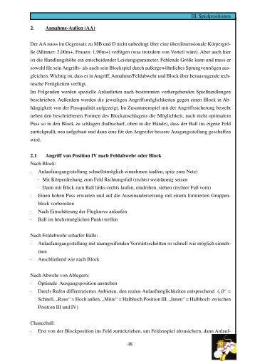 Diagonalangreifer/ Mittelblocker