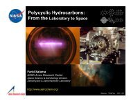 Polycyclic Hydrocarbons - Wittfest: Origins & evolution of Dust