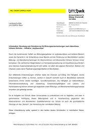 Landesschulräte und SSR für Wien Information, Beratung und ...