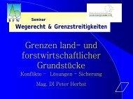 Grenzen land- und forstwirtschaftlicher Grundstücke - BFW