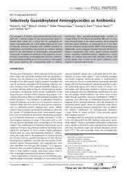 Selectively Guanidinylated Aminoglycosides as Antibiotics - Nizet ...