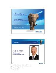 Industrial Alliance Overview YVON CHAREST