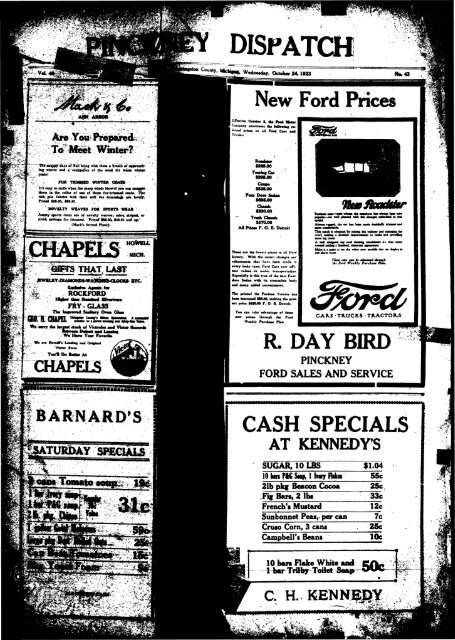 10-24-1923 - Village of Pinckney