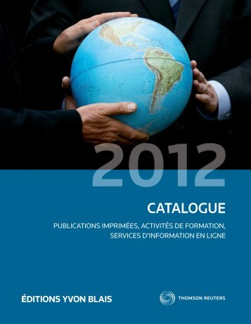Catalogue 2012 - Éditions Yvon Blais
