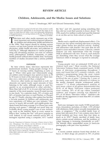 articles regarding conditions connected with adolescence