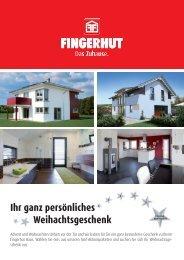 Ihr ganz persönliches Weihachtsgeschenk - Fingerhut Haus GmbH ...