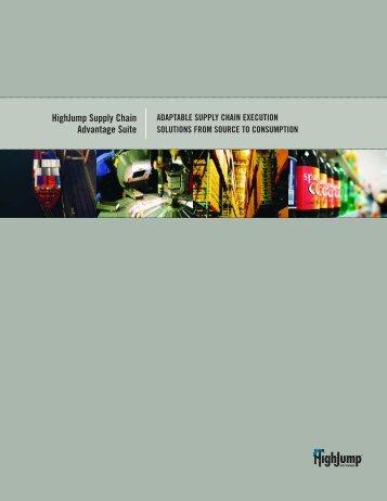 HighJump Supply Chain Advantage Suite - HighJump Software, Inc.