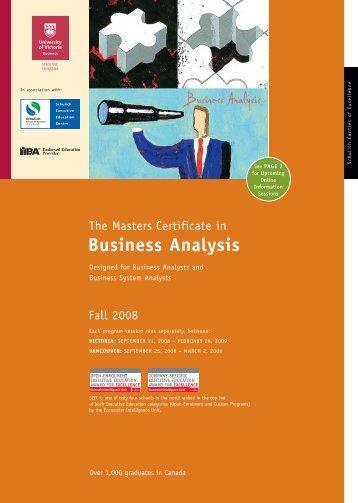 MCBA UVic Brochure, v4e - Schulich School of Business - York ...