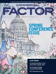SPRING CONFERENCE ISSUE - International Factoring Association