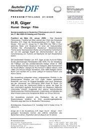H.R. Giger. Kunst · Design · Film - Deutsches Filmmuseum