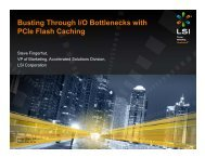 Busting Through I/O Bottlenecks with PCIe Flash Caching
