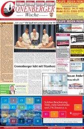 Cronenberger lebt mit Titanherz - Cronenberger Woche