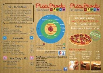 PizzaPronto - Lieferservice | Bistro | Café